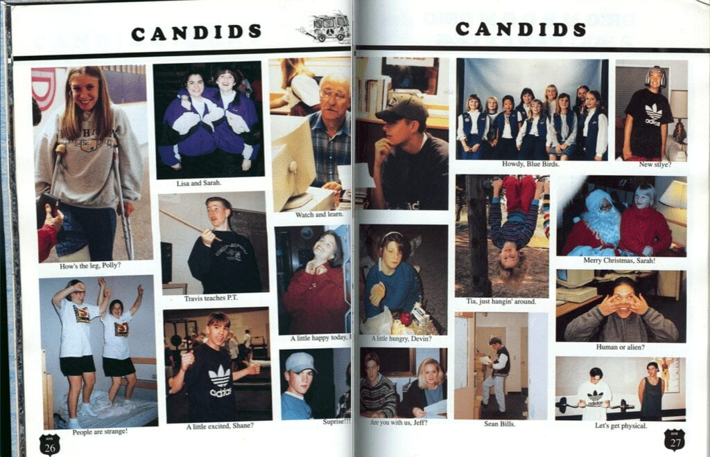 Class of 1996 yearbook candids 3