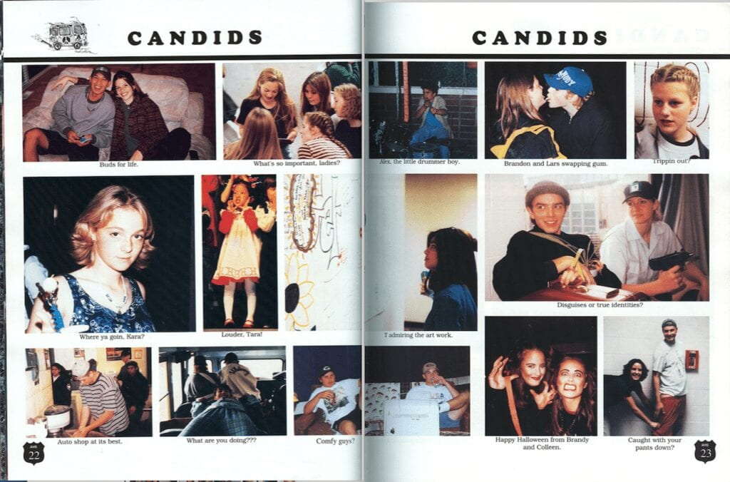 1996 yearbook candids-open-book