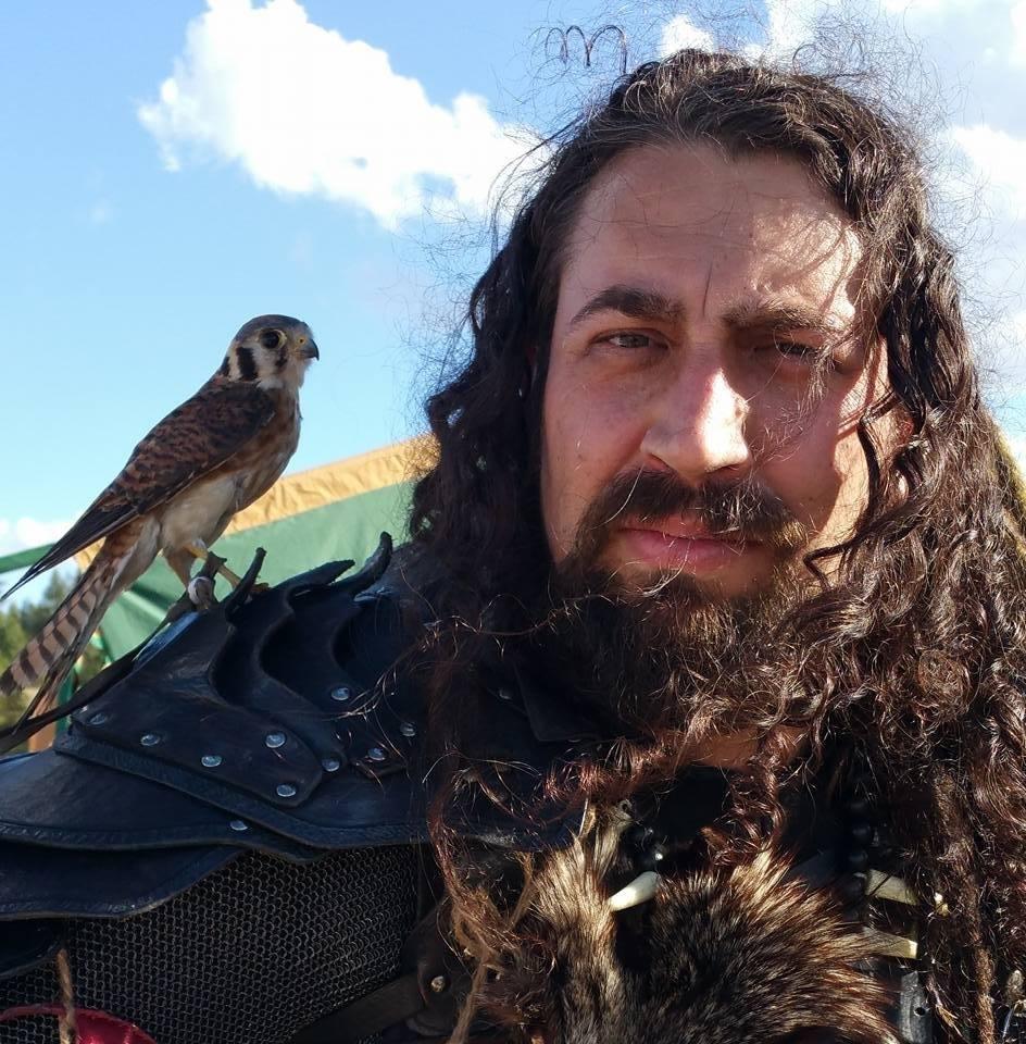 Eric Pope Wotan with bird