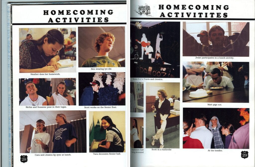 AHS class of 1996 Homecoming activities
