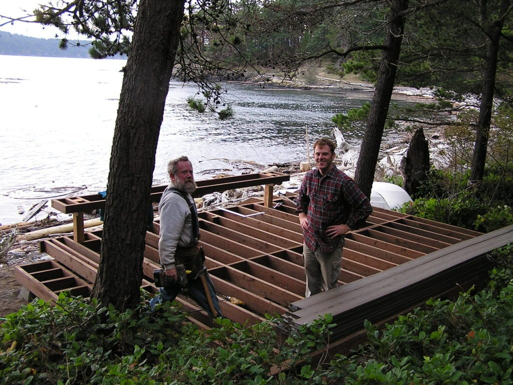building deck with dad