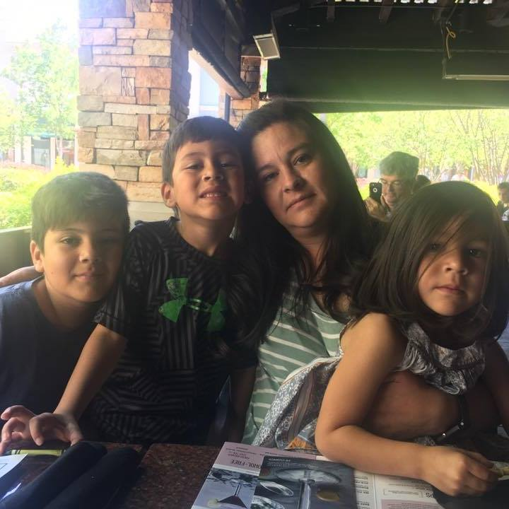 Alejandra Meza-Tabares and kids