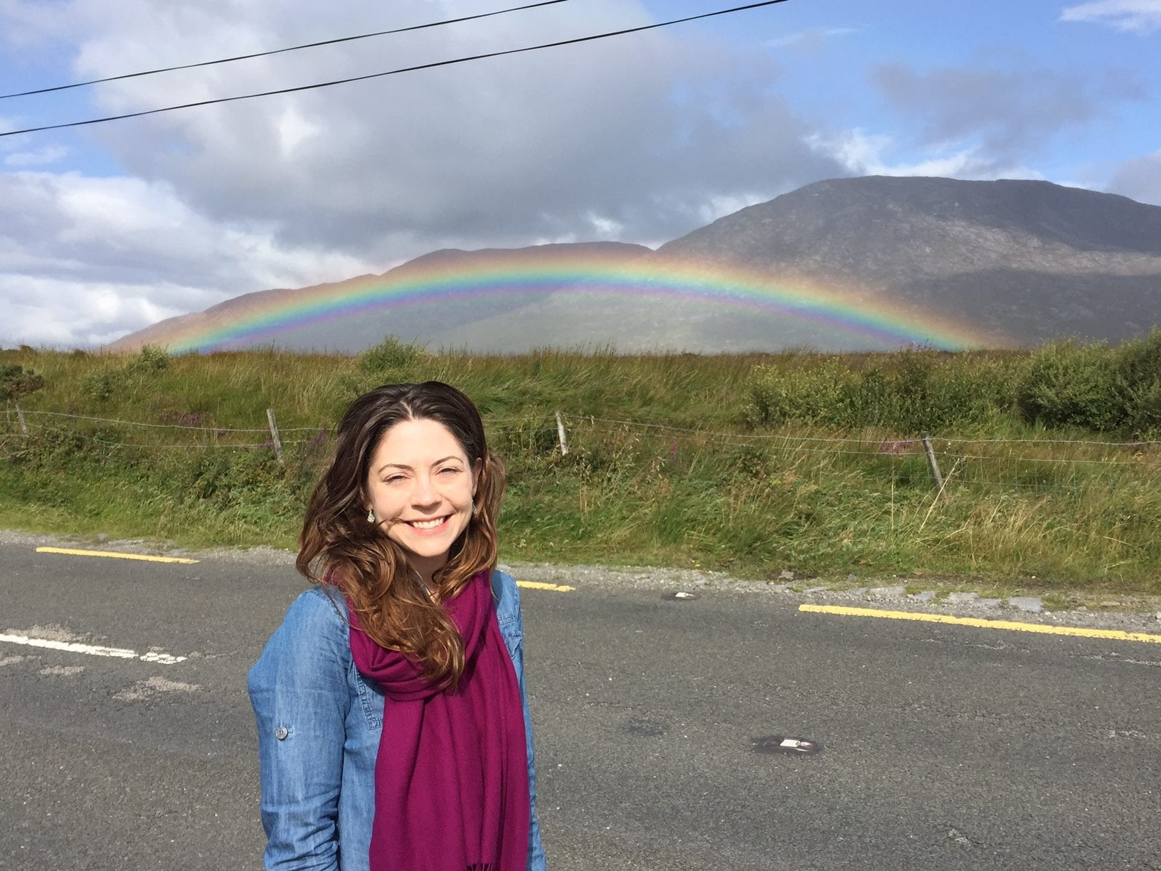 Kimberly Griffin with rainbow